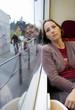 femme dans le tram