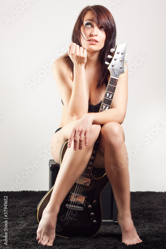 canvas print picture Rock-Lady 5