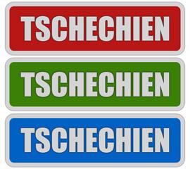 3 Sticker rgb TSCHECHIEN