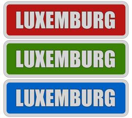 3 Sticker rgb oc LUXEMBURG