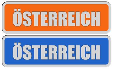 2 Sticker orange blau rel ÖSTERREICH