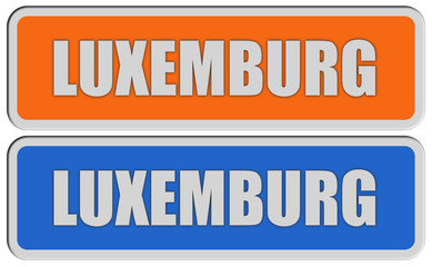 2 Sticker orange blau rel LUXEMBURG