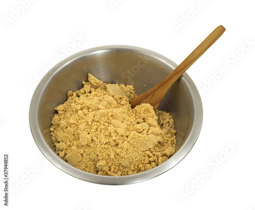 Dry cookie mix in bowl