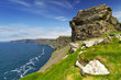 Cliffs of Moher with blue sky, Co. Clare, Ireland