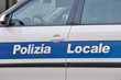 Car of the local police of Emilia Romagna, Italy