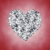 Diamonds in a heart shape , Valentine's day