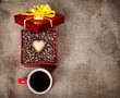 Valentines day coffee present