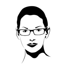 Beautiful girl with glasses # Vector