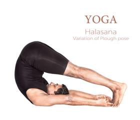 Yoga halasana pose