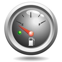 Spia Indicatore Benzina Vuoto-Empty Fuel Petrol Gauge-Vector