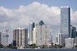 Miami Florida panorama of downtown buildings