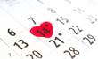coeur de saint Valentin sur 14 février