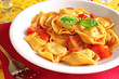 Freshly cooked ravioli