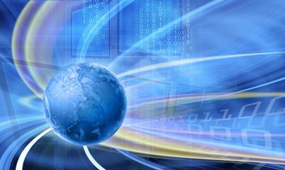 Abstract telecommunications blue illustration