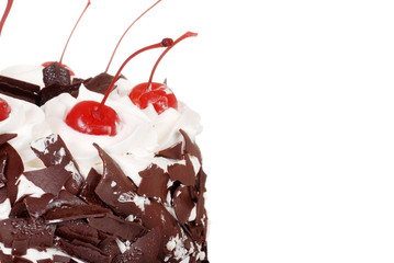 Macro black forest cake