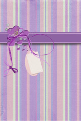Purple hearts with tag