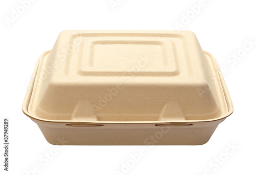 Take Out Box isolated on white