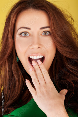 Beautiful Woman With Shocked Expression