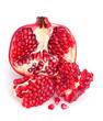 Pomegranate fruit open