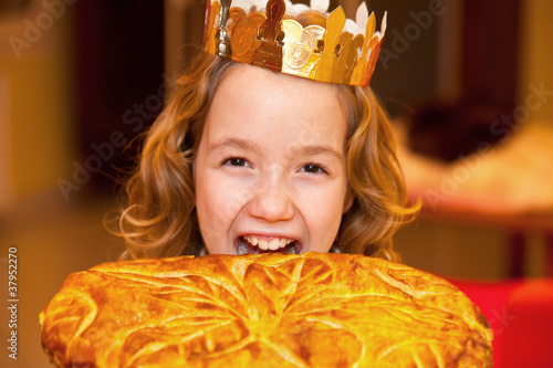 Leinwandbild Motiv galette des rois