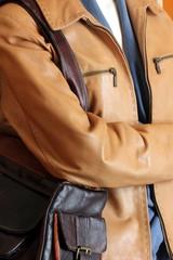 veste et sac de cuir