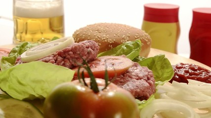 hamburger e ingredienti