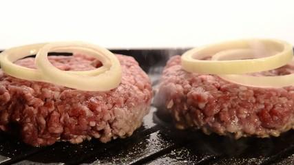 fast food, hamburger e cipolla