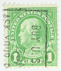 Benjamin Franklin Postage Stamp - circa 1922-1926