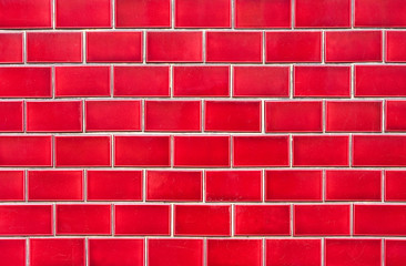 Intensive red brick wall