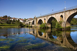 Bridge of Ponte da Barca, ancient portuguese village, on Minho r