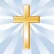 Christianity Symbol, Golden Cross, Crucifix