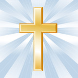 Christianity Symbol, Golden Cross, Crucifix
