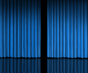 Behind The Blue Curtain