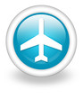 "Light Blue Icon ""Airport / Airplane"""