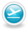 """Light Blue Icon """"Airport Departures"""""""