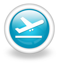 "Light Blue Icon ""Airport Departures"""
