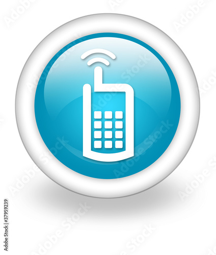 "Light Blue Icon ""Cell Phone"""