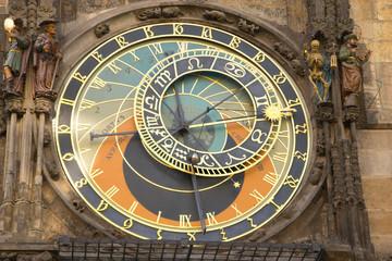Golden zodiac in Prague Town hall (Czech Republic)