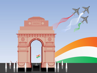 Vector illustration of Republic Day and Independence Day.