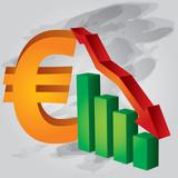 Decrease in Euro poster