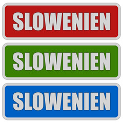 3 Sticker rgb SLOWENIEN