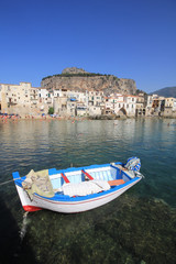 Fishing boat at Cefalu in Sicily