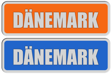 2 Sticker orange blau rel DÄNEMARK