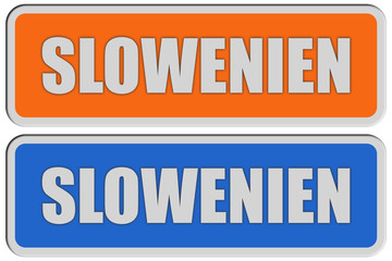 2 Sticker orange blau rel SLOWENIEN