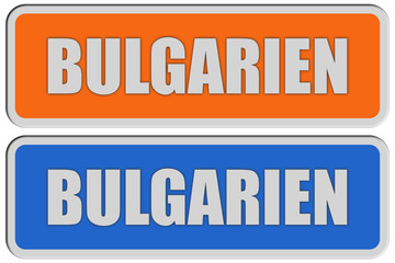 2 Sticker orange blau rel BULGARIEN