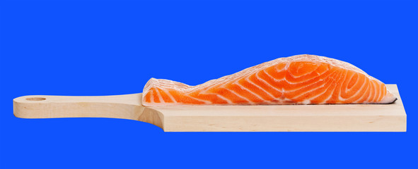 Salmon on a desk.