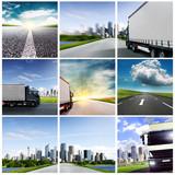 Fototapeta droga - logistyka - Ciężarówka