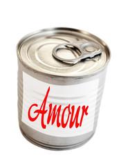 boîte de conserve d'amour
