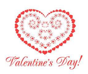 Valentine's day vector background with hearts