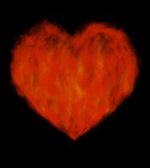 Corazón ardiente.
